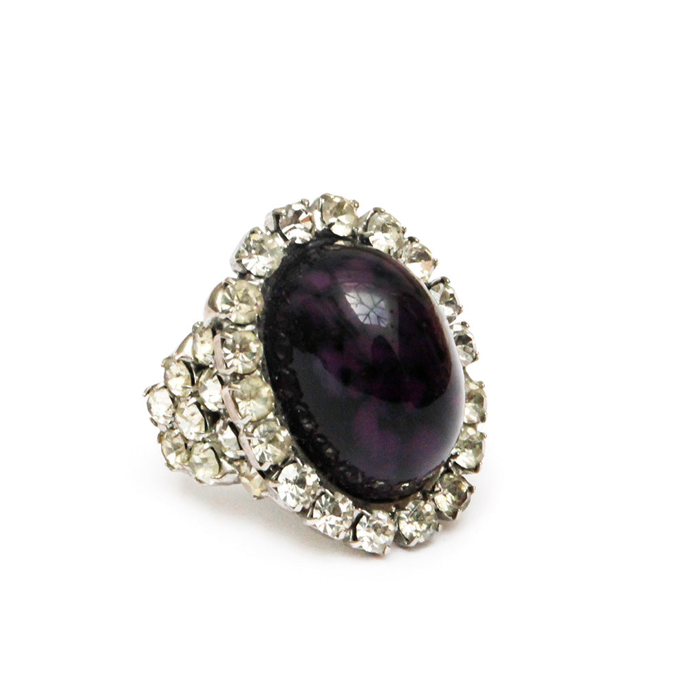 Sorrell Purple Cabochon Ring
