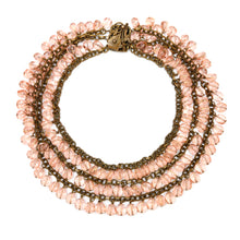 Load image into Gallery viewer, Pink Glass Bead Necklace