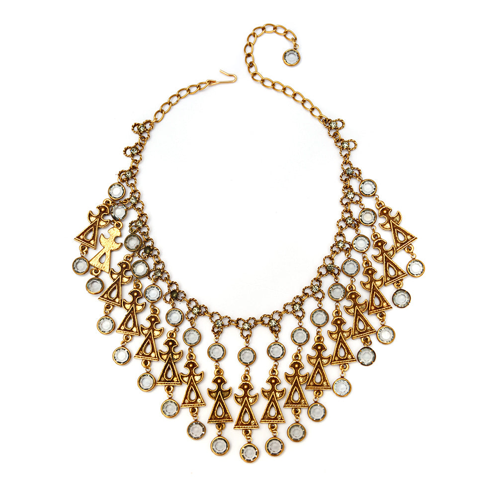 Goldette Figural Collar Necklace