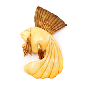 Celluloid Fish Brooch