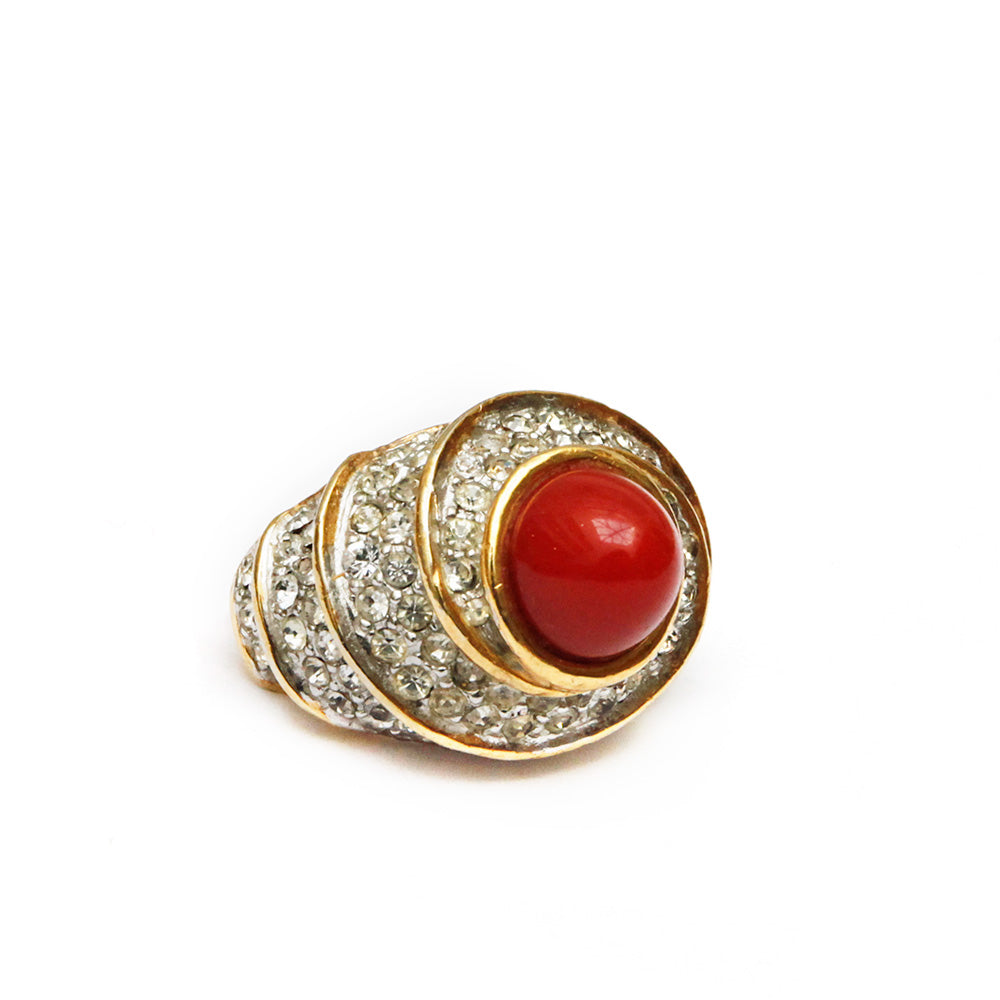 Vendome Red and Diamante Ring
