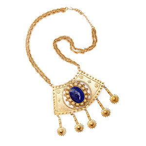 1960s Pauline Rader Necklace with Lapis Lazuli