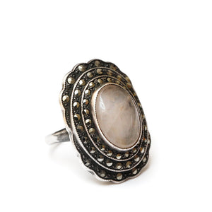 Marcasite Ring with Quartz Stone