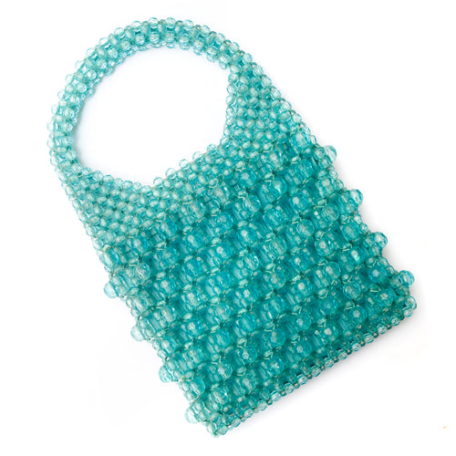 Alexander's Aquamarine Beaded Purse