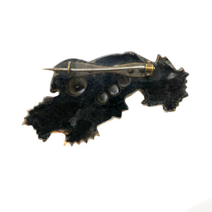 Victorian Whitby Jet Hand Pin