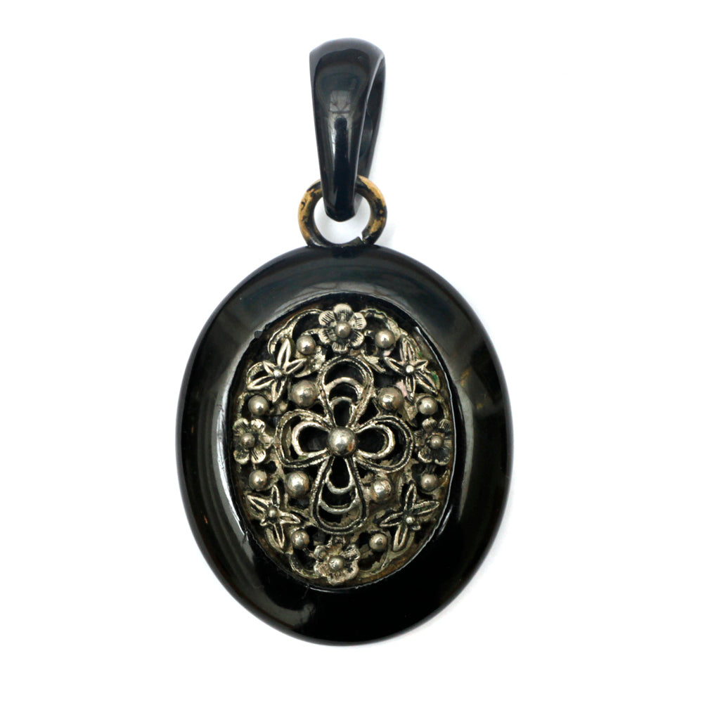 Victorian Whitby Jet Pendant