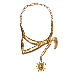Artisanal Brass Women Necklace