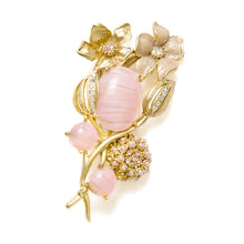 Load image into Gallery viewer, Oscar de la Renta Gold Flower Brooch