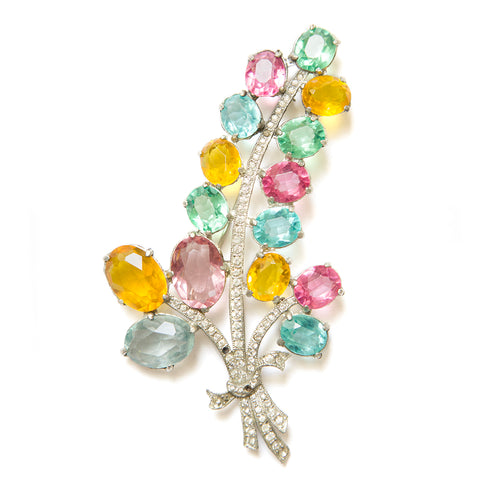 Pastel Flower Brooch