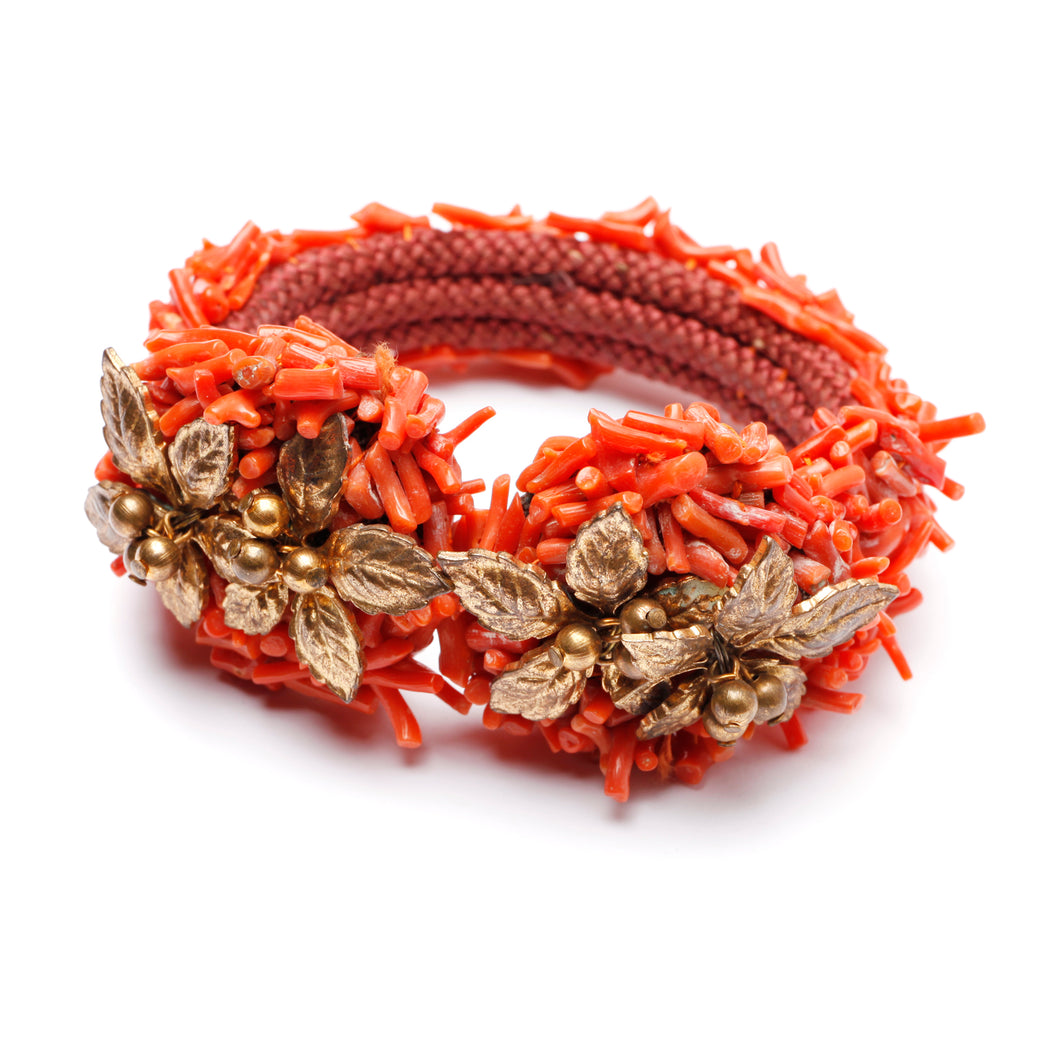 Miriam Haskell Coral Wrap Bracelet