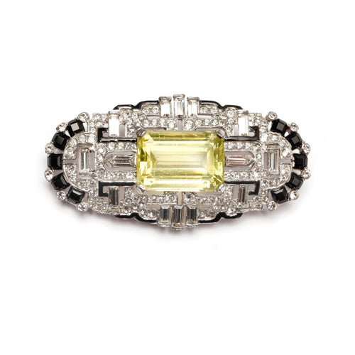Diamante Deco Brooch