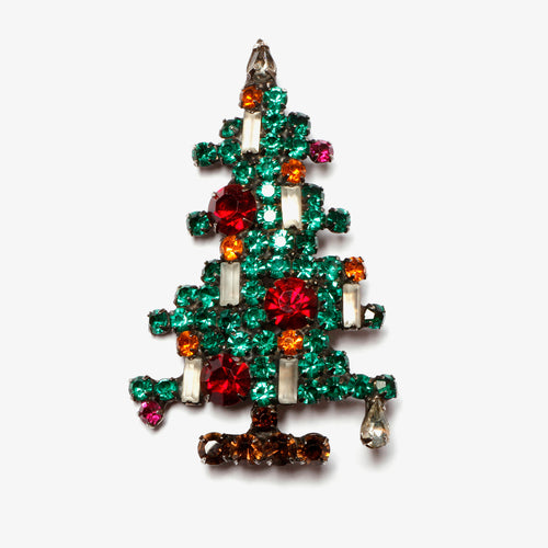 Green Rhinestone Christmas Tree