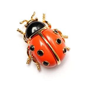 KJL Lady Bug Brooch
