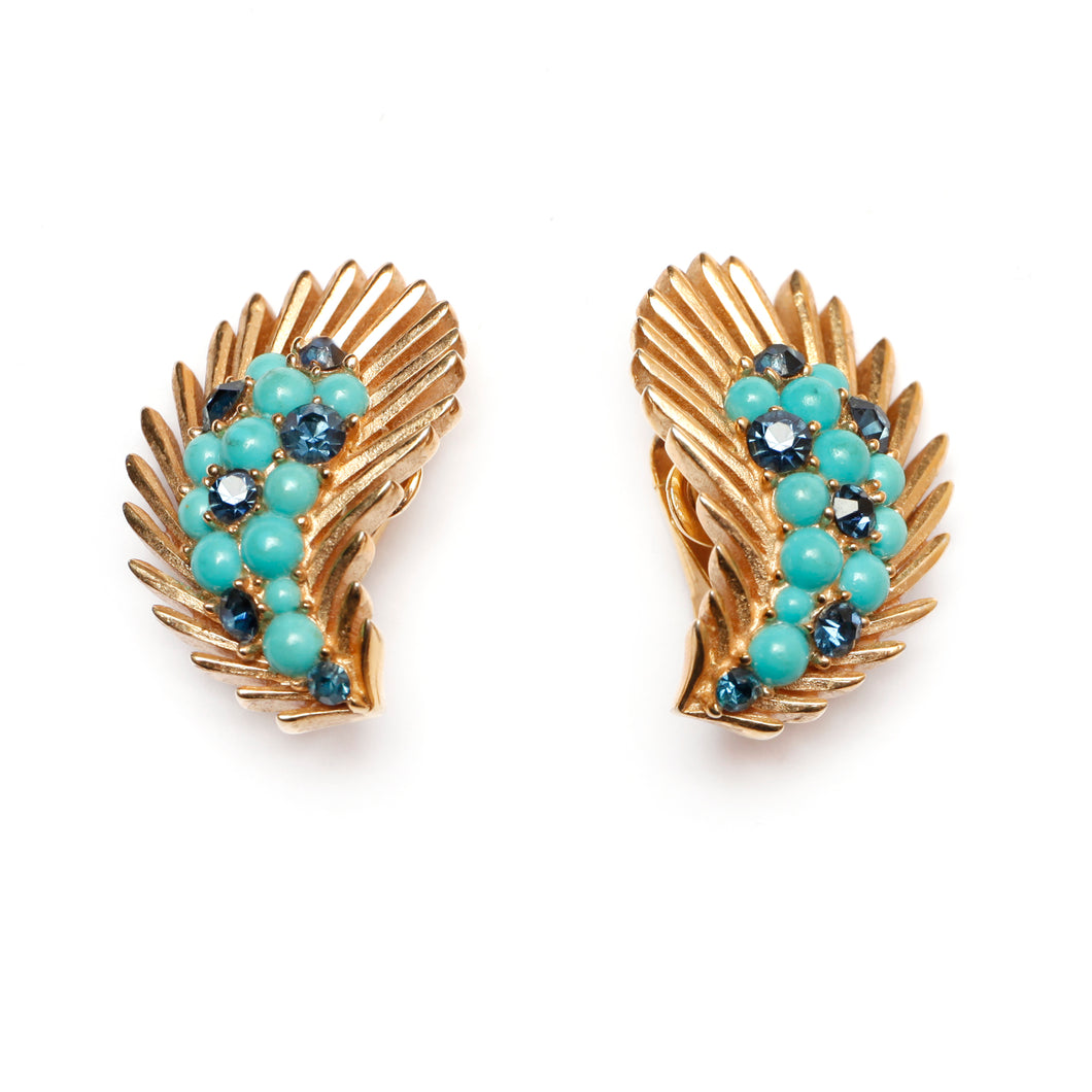 Trifari Gold Earrings