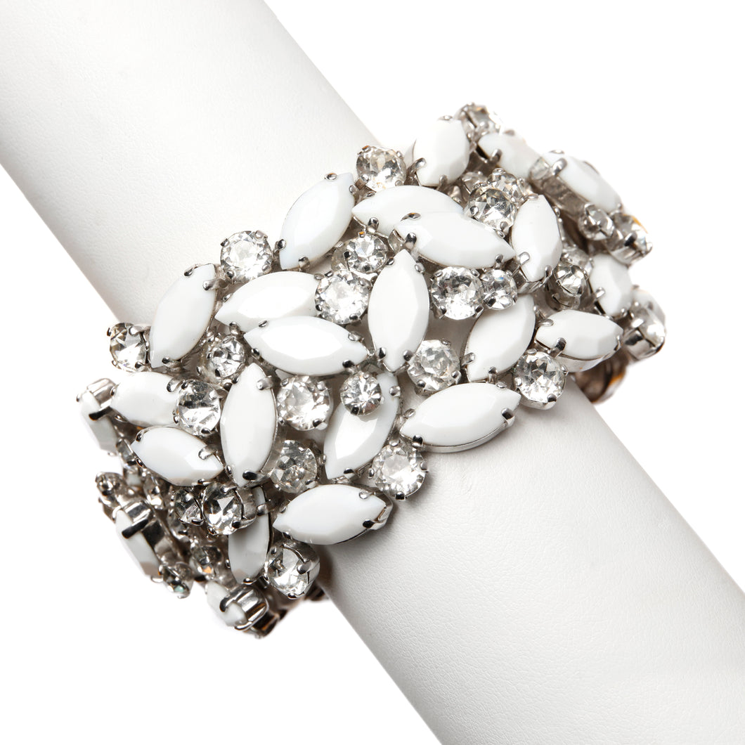 Sherman White Crystal Cuff
