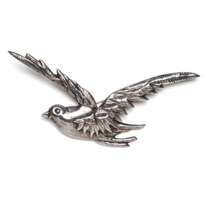 1940s Mexican Sterling Silver Bird Brooch