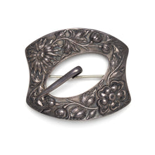 Load image into Gallery viewer, 1900s Sterling Silver Buckle Brooch