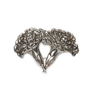 Mexican Sterling Silver Chrysanthemum Brooch