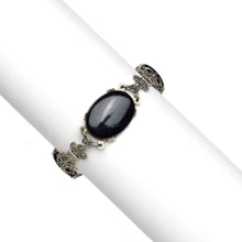 Load image into Gallery viewer, 1940s Jet Black and Marcasite Bracelet