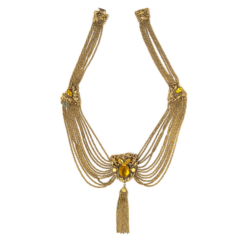 Gold Multi-Strand Festoon Necklace