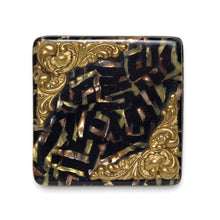 Load image into Gallery viewer, 1940s Tiger Print with Brass Swivel Mirror