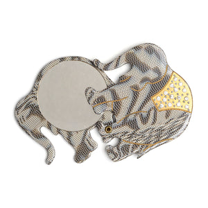 1950s Grey Elephant Swivel Mirror