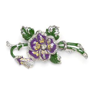 Purple Pansy Brooch