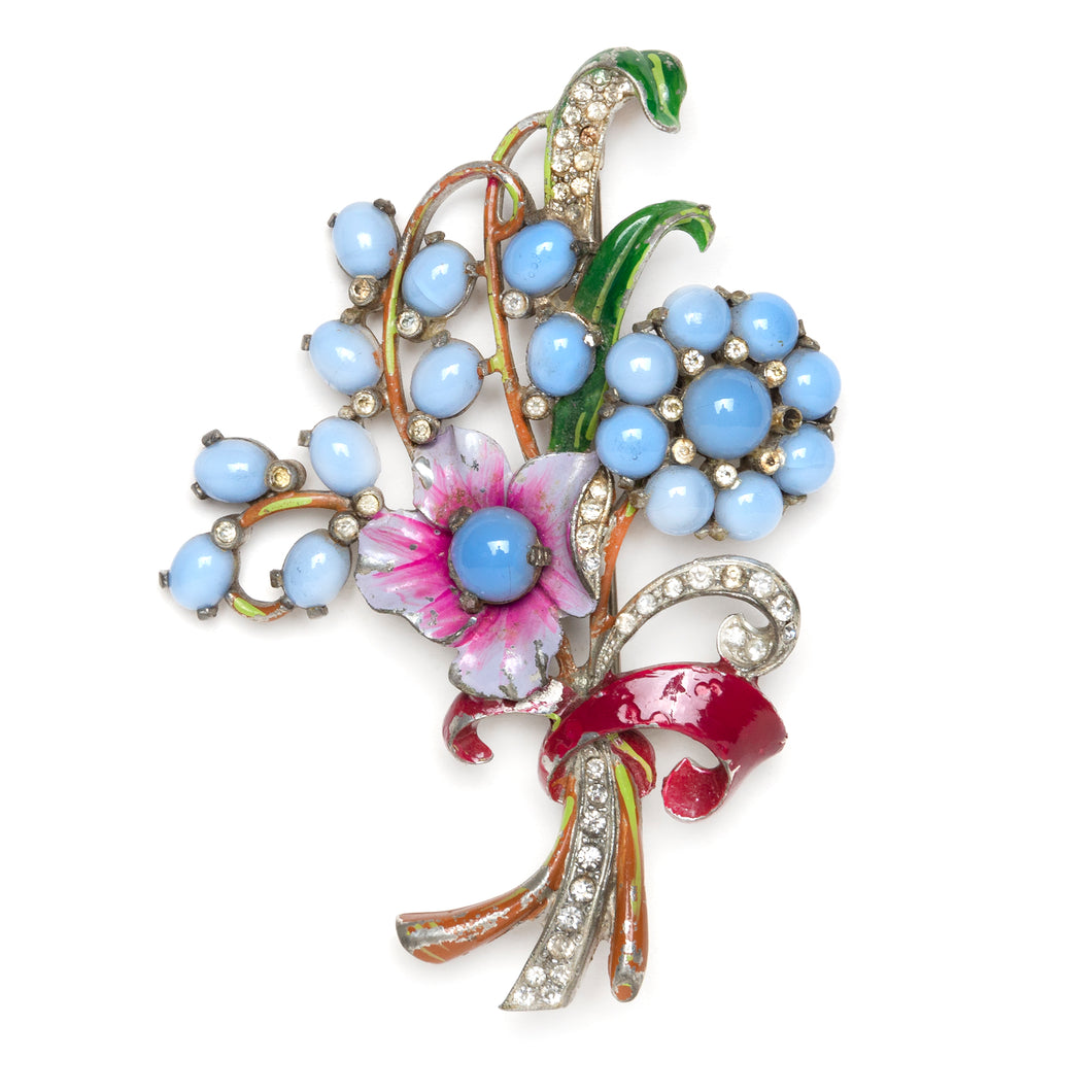 Moonglow Floral Bouquet Brooch