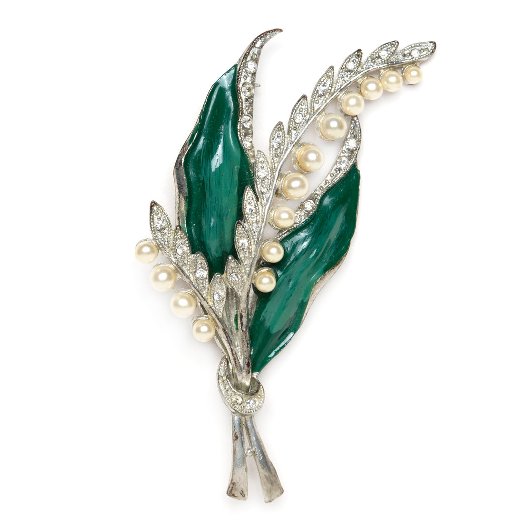 1940s Lily of the Valley Brooch