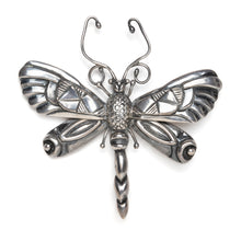 Load image into Gallery viewer, 1950s Mexican Sterling Dragonfly Brooch