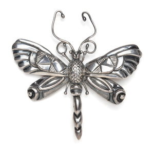 1950s Mexican Sterling Dragonfly Brooch