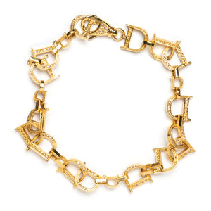 "1980s Dior Gold ""D"" Links Anklet"