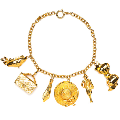 1980s Chanel Large Gold Charms Necklace