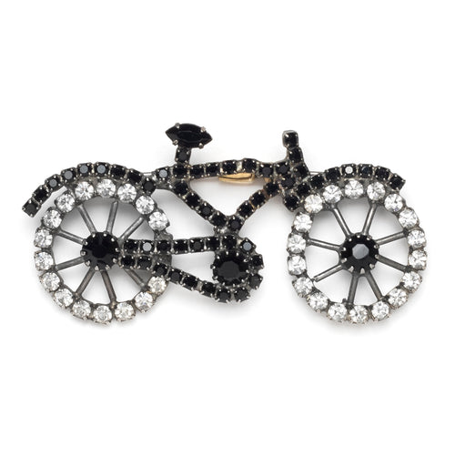 Black and Diamanté Bicycle Pin