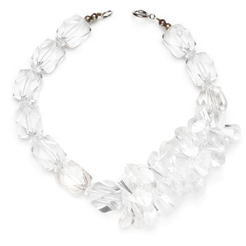 Asymmetrical Lucite Ice Cube Necklace