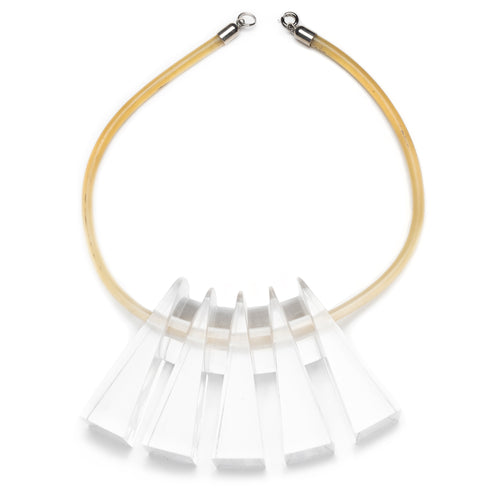 Chunky Lucite Collar Necklace