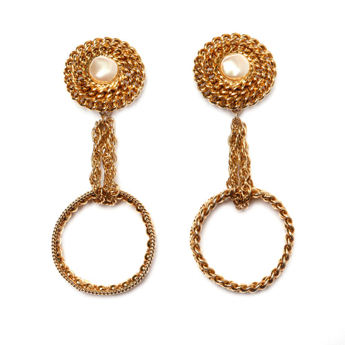 A La Parure Gold Hoop Earrings