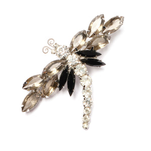 Juliana Smoke and Clear Dragonfly Brooch