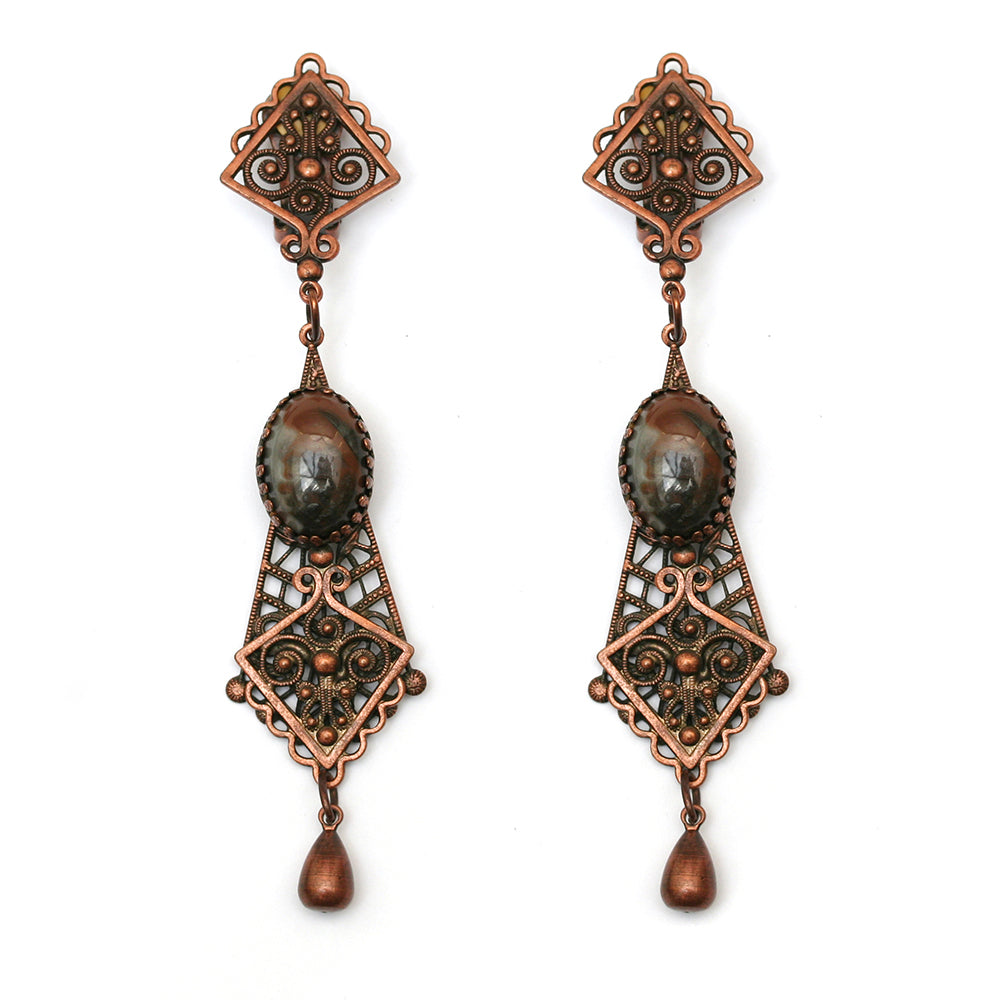 Copper Dangly Earrings