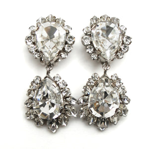 1960 Teardrop Diamante Earrings