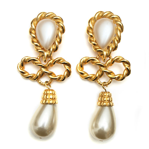 1980 Gold Knot Earrings