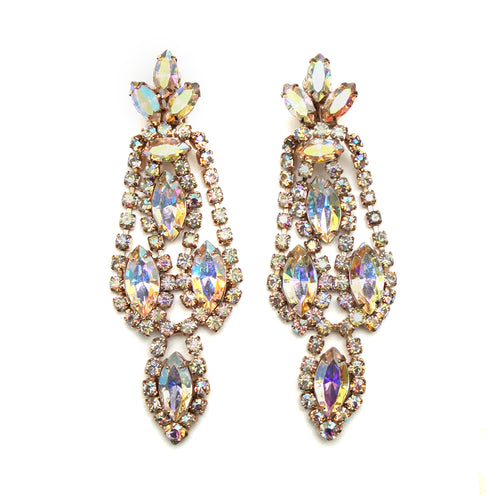 1960 Crystal Drop Earrings