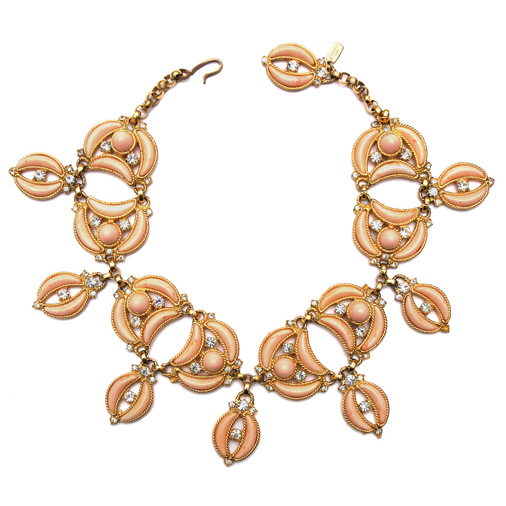 KJL Soft Pink Crescents Necklace