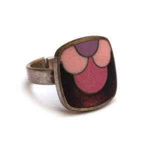 1950 Schibensky Purple Enamel Ring