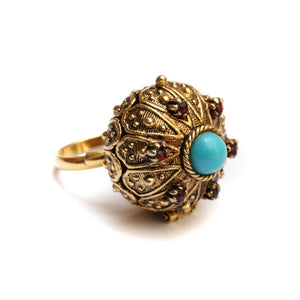 1950 Art Poison Ring
