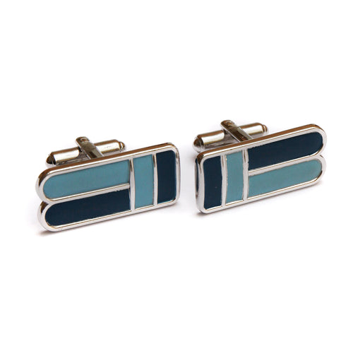 1950s Speidel Long Blue Enamel Cufflinks