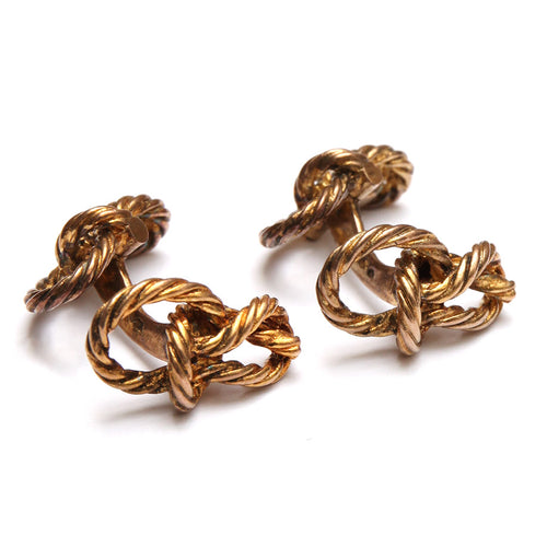 French Gold Knot Cufflinks