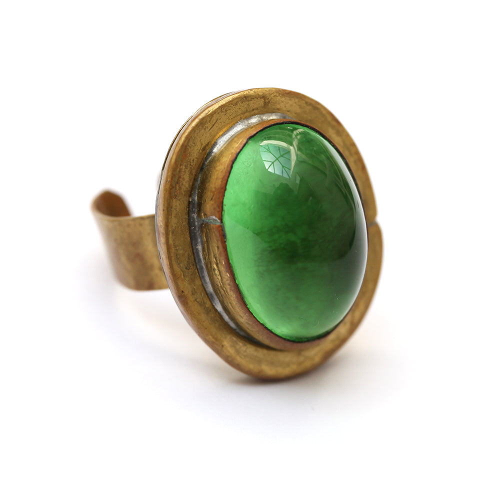 Rafael Bright Green Stone Ring