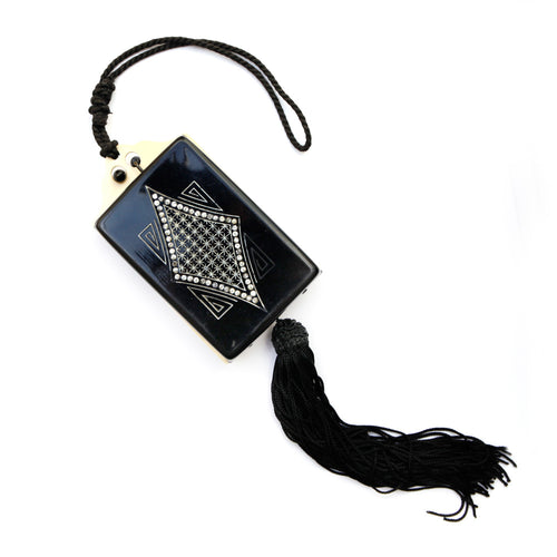 Black Celluloid Dance Compact Purse