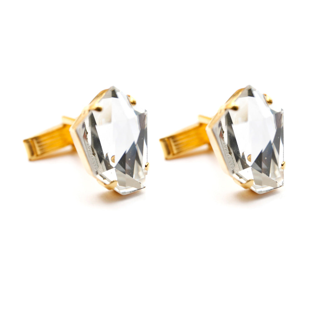 Hexagonal Gold-Toned Cufflinks